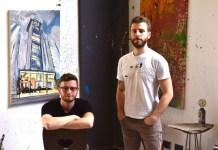 Tom Cox e Ellion Cardoso (foto Verónica Falcon) galeria londres