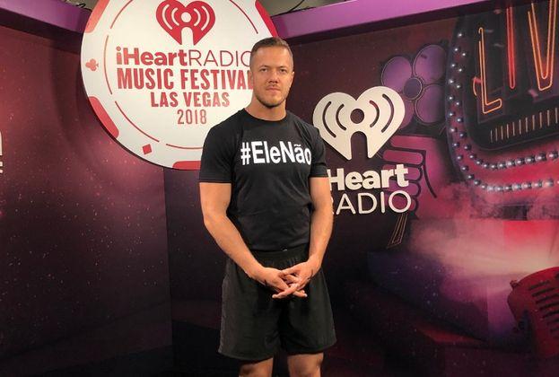 Dan Reynolds no iHeart Festival. Foto: reprodução elenão