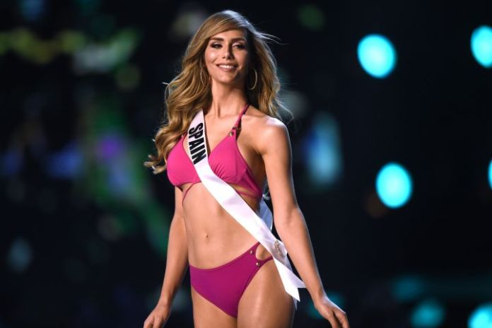 Angela Ponce of Spain competes in the swimsuit competition during the 2018 Miss Universe