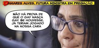 Futura ministra de Mulheres, Família e Direitos Humanos, pastora Damares Alves fala em Brasília após indicação Foto: DanielMarenco/AgênciaOGlobo ministério