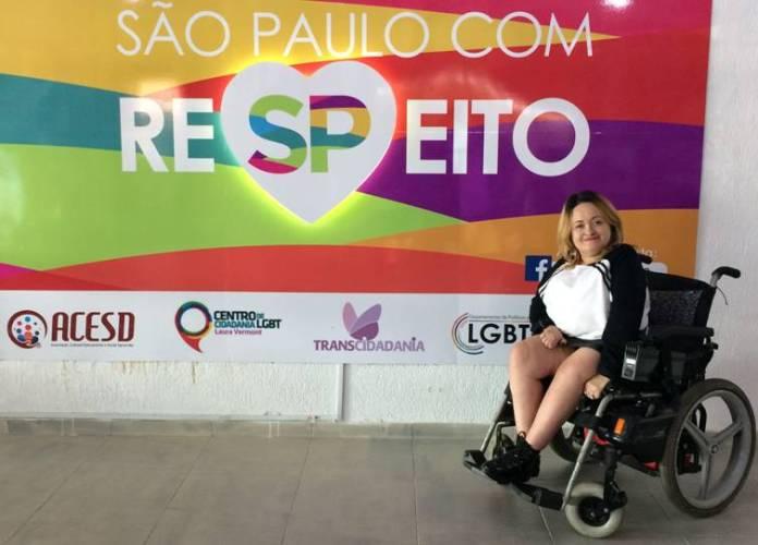 No dia 3 de dezembro, Dia Internacional da Pessoa com Deficiência o Centro de Cidadania Laura Vermont, a visita de Ivone de Oliveira.