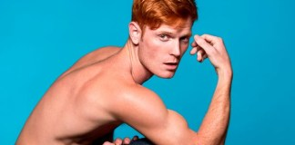 Redheaded male model in the 'Red Hot' exhibition, by British photographer Thomas Knights (Image: Thomas Knights/ Splash