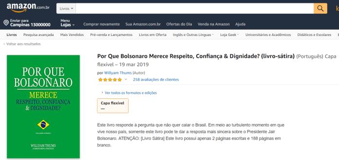 A obra está disponível na Amazon por 39,64