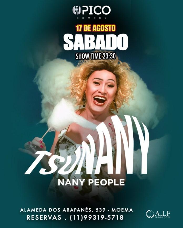 Ícone do mundo LGBT, Nany People leva show de humor ao Pico Comedy Club no sábado