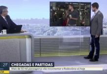 Ao vivo, repórter Pedro Figueiredo brinca: 'tomei um puxão de orelha do meu marido'