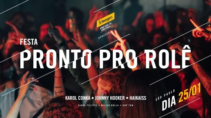 """Schweppes Premium Drinks arma festa """"Pronto Pro Rolê"""" no Complexo#9 com shows gratuitos"""