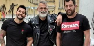 Wagner Figueiredo, Odair Sinkunas e Julio Sinkunas respectivamente (Foto: Arquivo Pessoal)