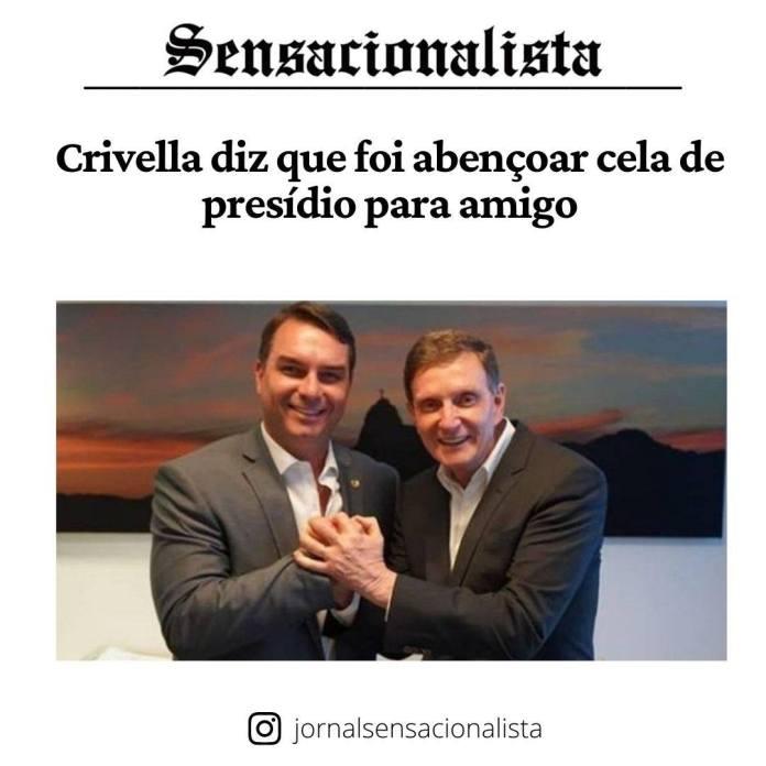 Flávio Bolsonaro está sendo investigado por corrupção / Reprodução @sensacionalista