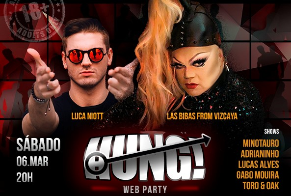 "Balada online com show de strip ""Hung! Web Party"" rola neste sábado"