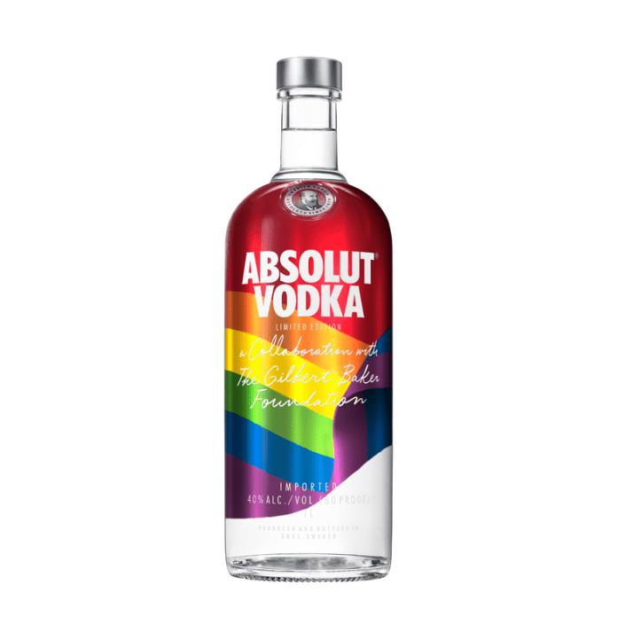 """Absolut lança versão """"Rainbow"""" com parte dos lucros para fins filantrópicos"""