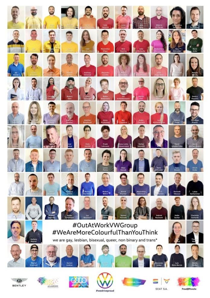 Volkswagen celebra campanha com 120 funcionários LGBTs contando suas histórias