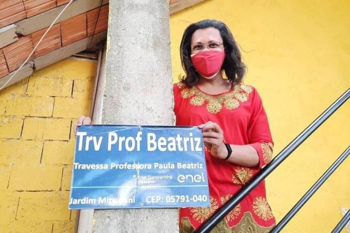 Travessa do Capão Redondo, em SP, recebe nome de pedagoga trans