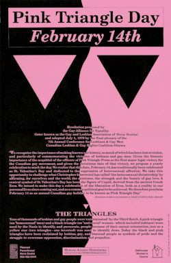 Image result for pink and black triangles, gay and lesbian