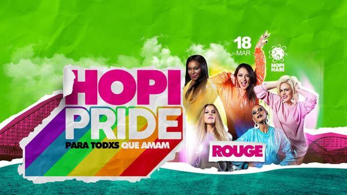 Além do quinteto Rouge como atração principal, evento Hopi Pride terá mais de 10 DJs divididos em dois palcos pelo parque