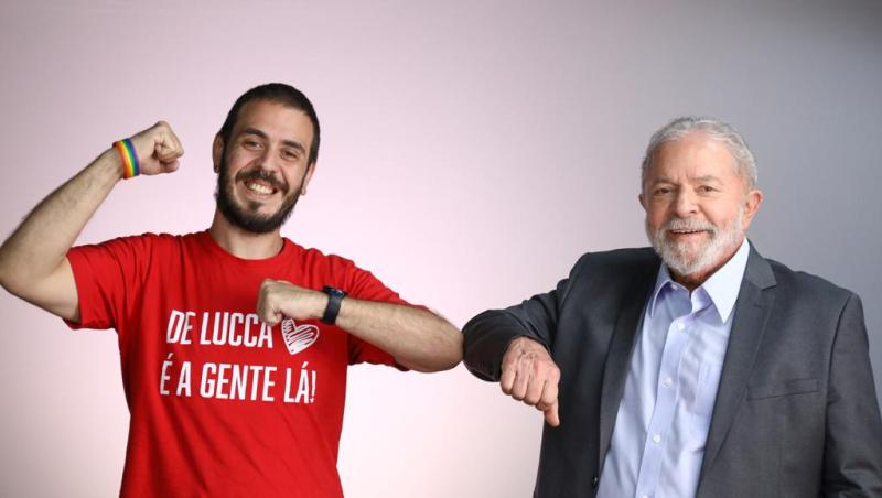 Lula e Haddad fazem ensaio com candidato gay a vereador de SP