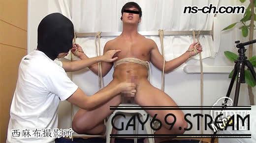 【HD】【NS-403】 【西麻布撮影所:Full HD】S級筋肉男子が緊縛責めで潮吹き!!