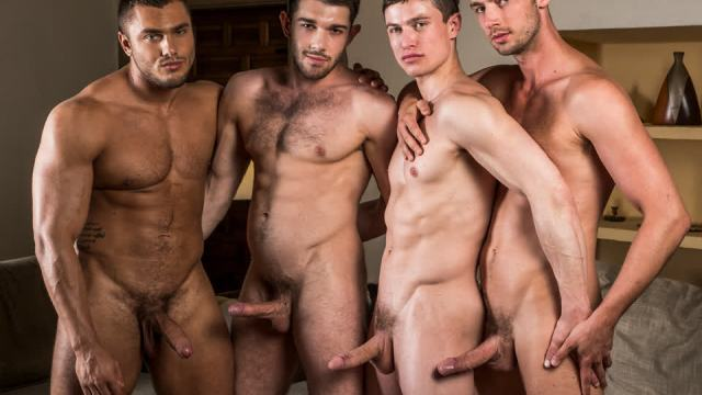 [LucasEntertainment.com] Ben Batemen, Brock Magnus, Ruslan Angelo, Damon Heart | Raw Double Fucking / LVP274-02 Raw Double Penetrations 07: Jam Packed, scene 2