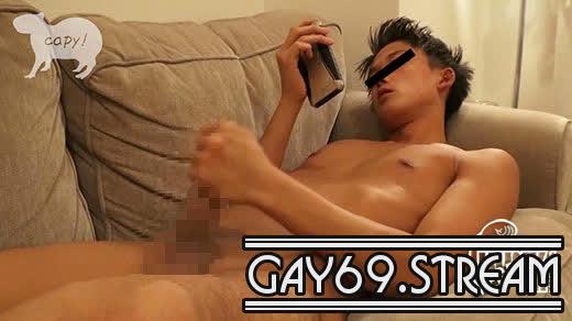 【HD】【KPP-0163】色黒ワイルド系のパイパン男前がお部屋で一人オナニー披露