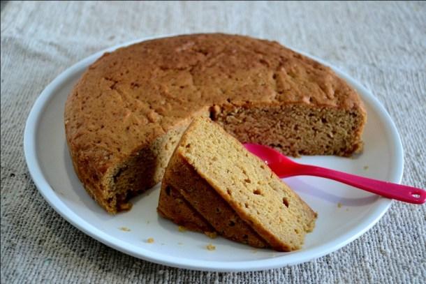 Eggless Caramel Cake