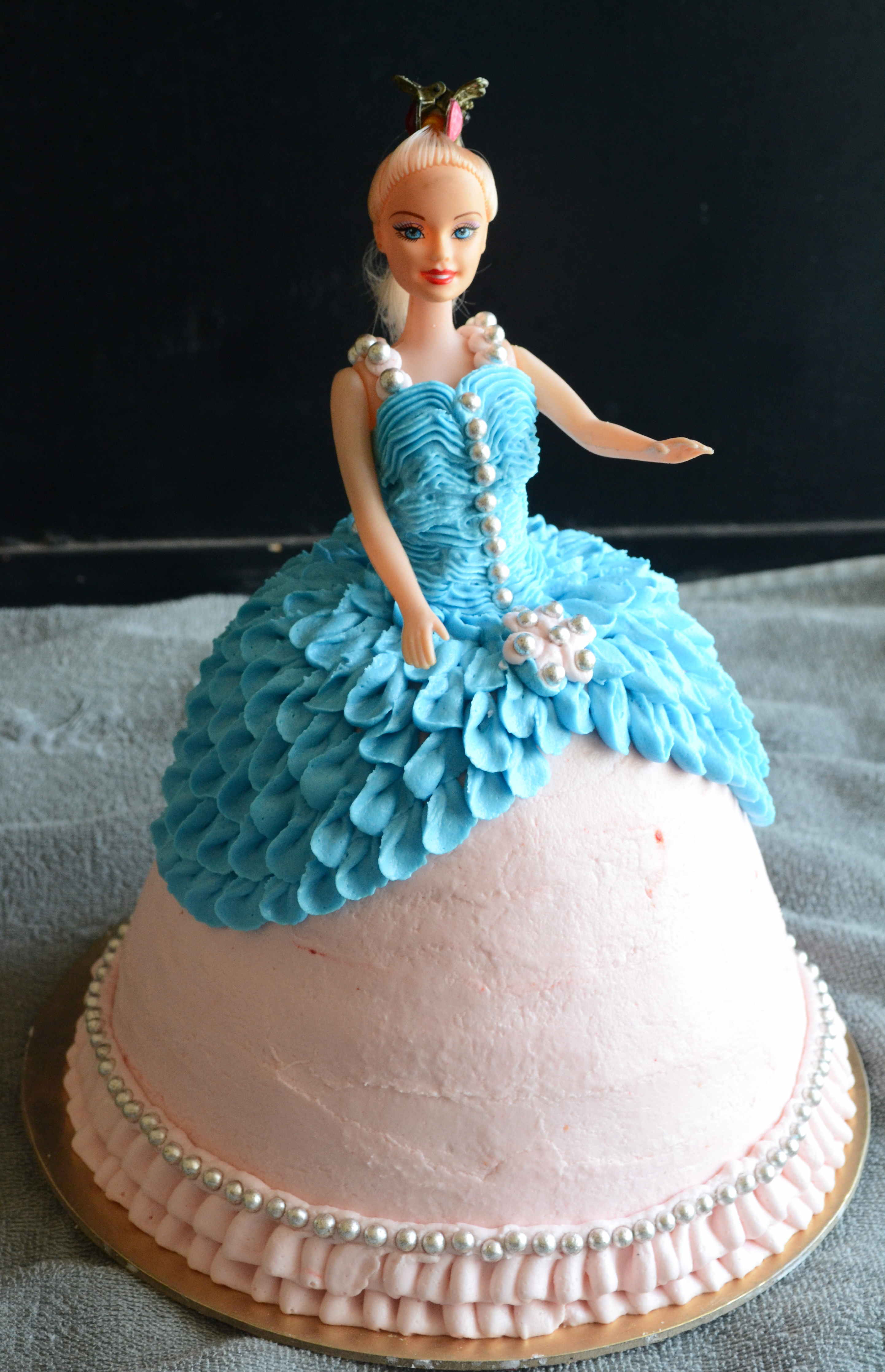 How To Make A Barbie Doll Cake Doll Cake Video Gayathri S Cook