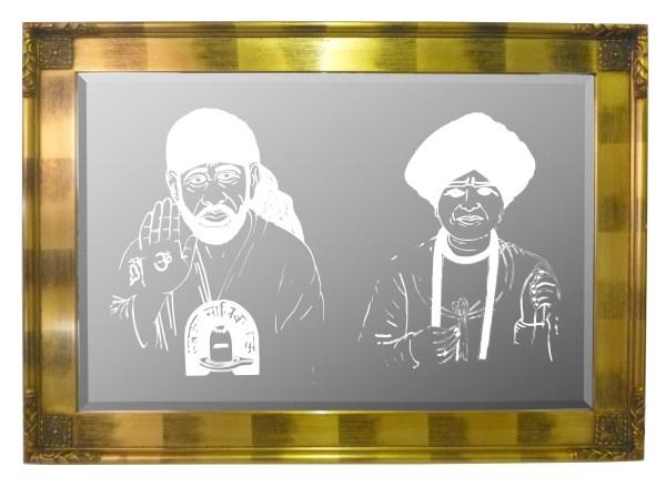 Sai Baba & Jalaram Mirror