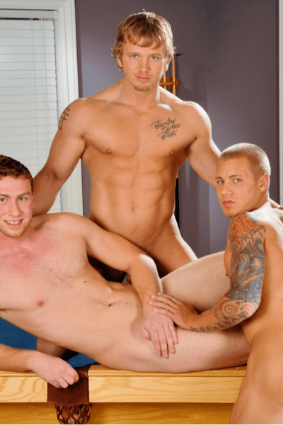 Muscle Jock Threeway With James Huntsman, Connor Maguire And Brody Wilder (1)