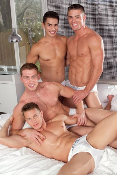 A Jock Orgy With Gay DP Action (1)