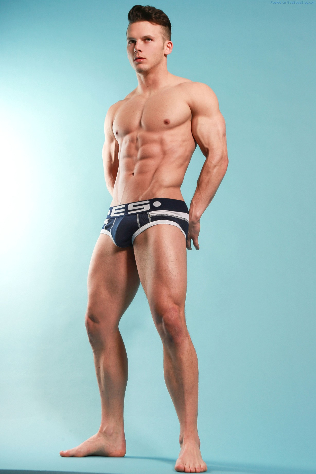 perfect muscular stud in massage session with jock