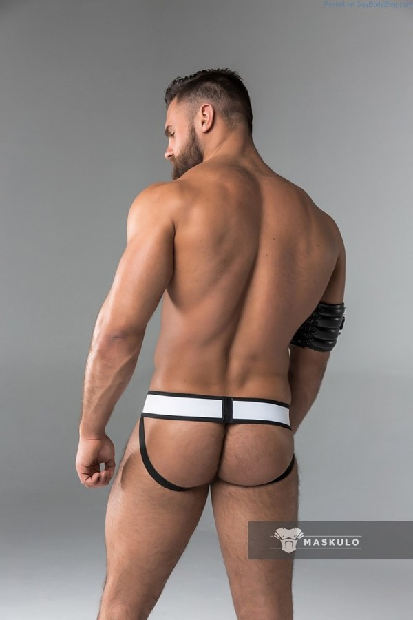 Kirill Dowidoff ass on shot in a Maskulo Jockstrap