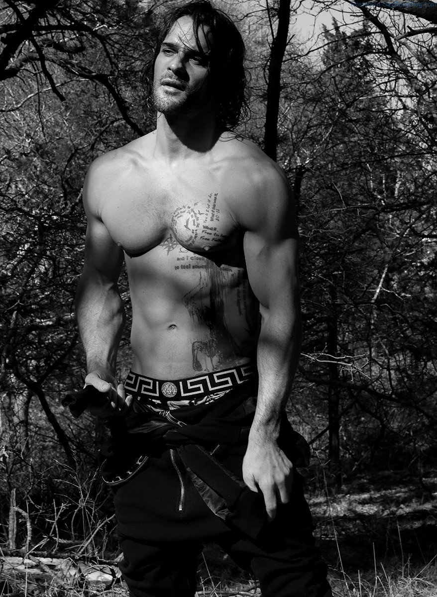 Handsome Hunk Thierry Pepin Gets Sexy In The Woods