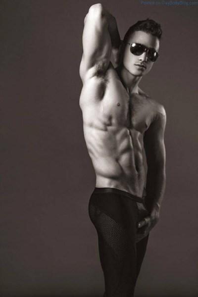 male model Lance Syverson shirtless