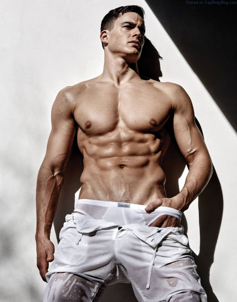muscle boy teasing naked
