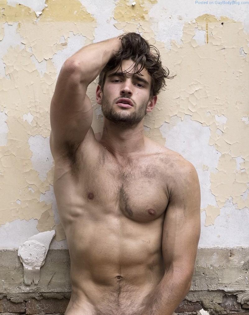 Model 201 naked male black
