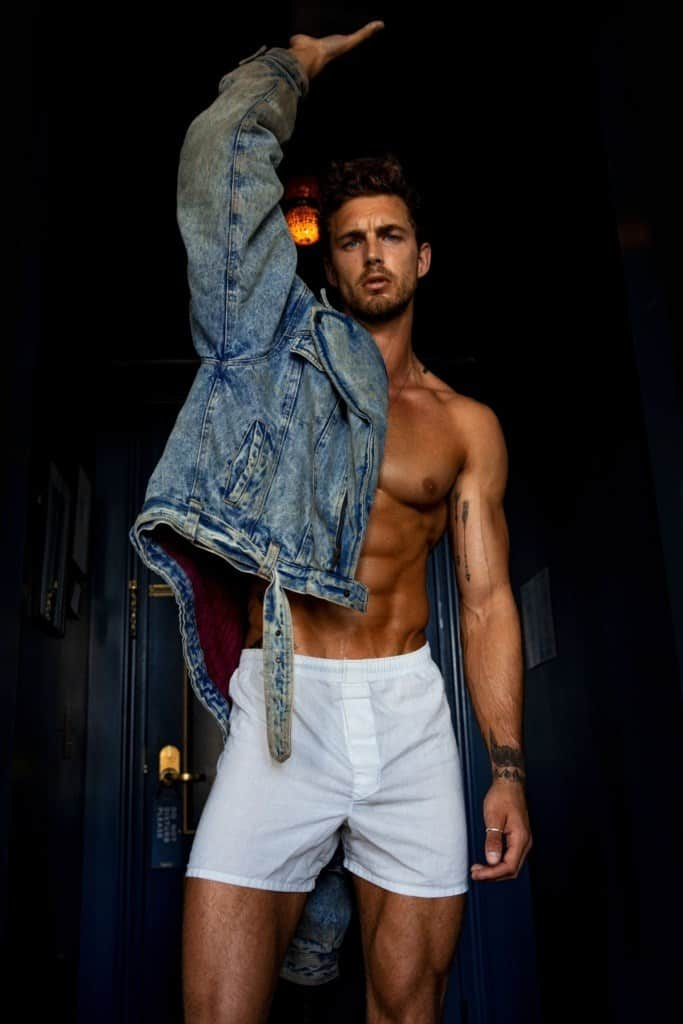 Christian Hogue In Sexy White Boxer Shorts