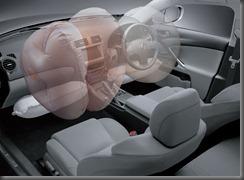 Lexus IS250 twin chamber airbag