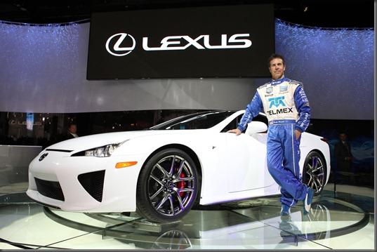Lexus LFA with US race driver Scott Pruett