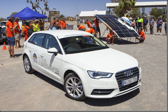 Audi A3 Bridgestone World Solar Challenge - Day 3.