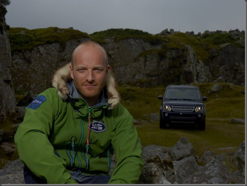 Land Rover Global Ambassador Ben Saunders with Land Rover Discovery 14MY