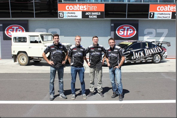 The Nissan Motorsport drivers at sandown