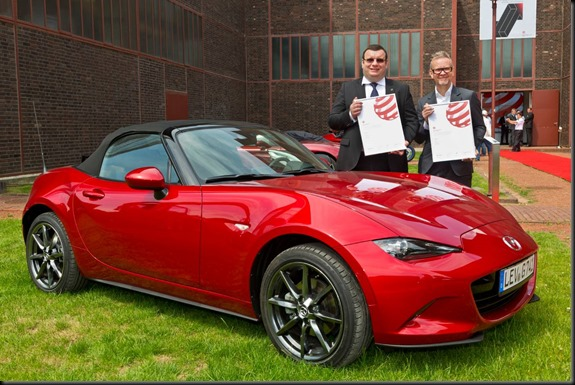 From the left Wojciech Halarewicz (Vice President Communications at Mazda Motor Europe) and Kevin Rice (Design Director at Mazda Motor Europe) gaycarboys
