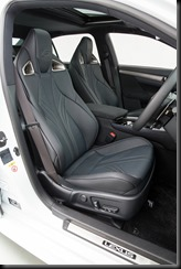 2016 Lexus GS F semi-aniline leather-accented front seats
