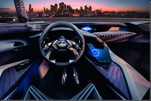 Hologram style displays are a feature of the Lexus UX Concept gaycarboys