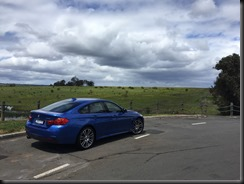 BMW 430i GranCoupe rest stop on the Hume Highway NSW not far from bowral