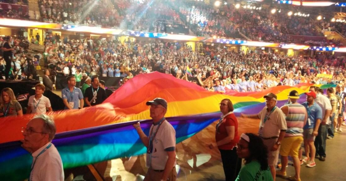 Gay Games rainbow flag