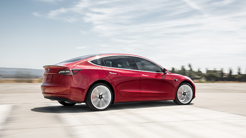 Model 3 Performance - Red Rear Motion