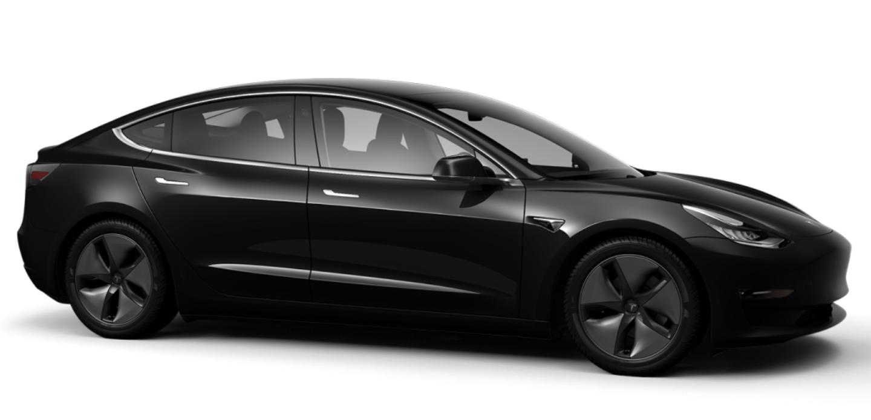 Tesla Paint Color Solid Black