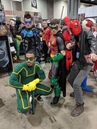 Nightwing Red Robin Red Hood and Kickass Cosplay