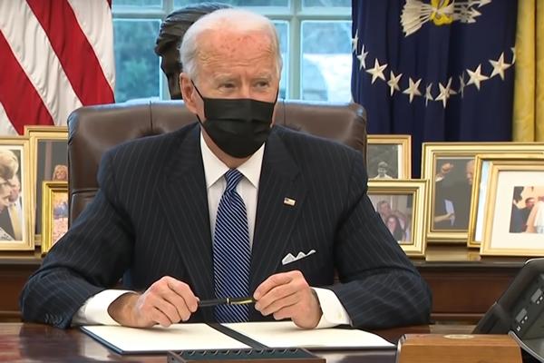 Joe Biden Signing Orders