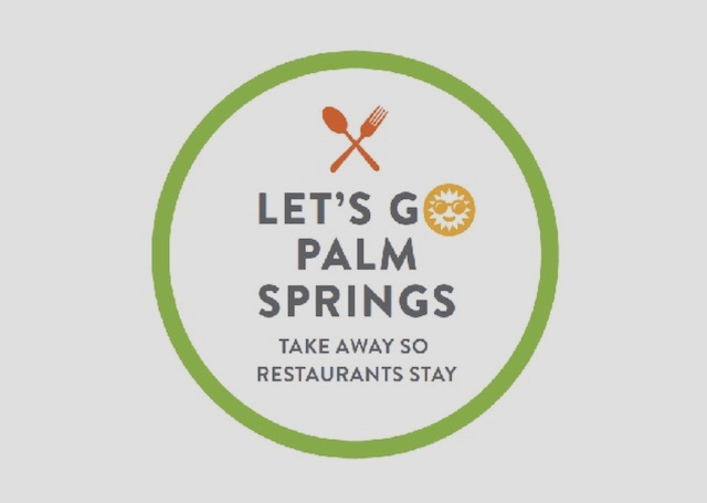 Lets Go Palm Springs Logo Take Away