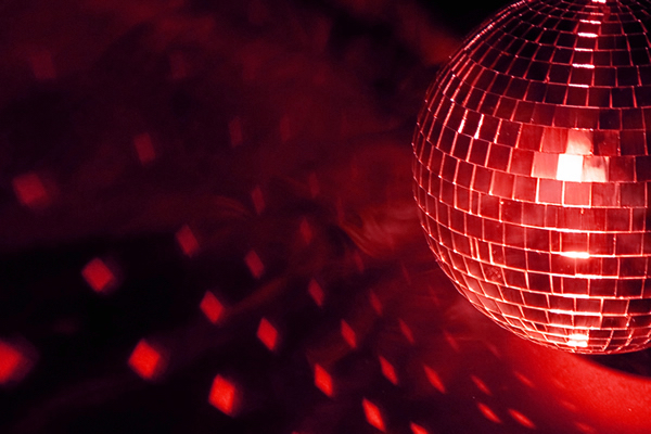 Red Disco Ball